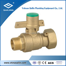 lockable brass ball valve with union