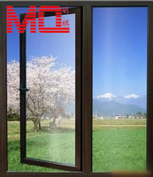 hot aluminium glass double entry doors ventilation casement doors manufacture