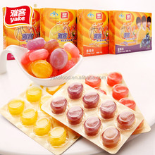 Yake 48g vitamin jam center filled sweet hard candy in blister packaging