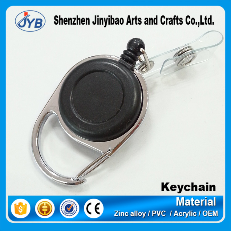 2016 Promotional Custom Round Metal pull reels key tag For Souvenirs