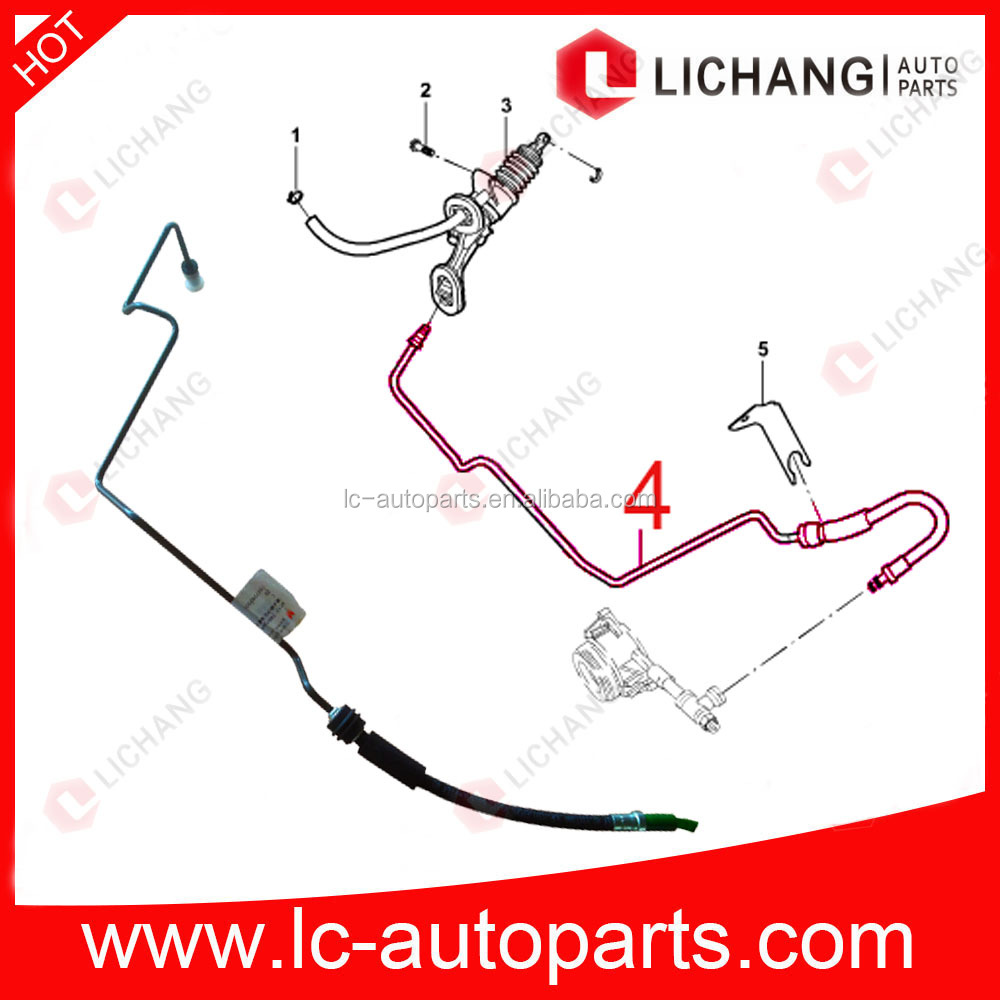 Tube-clutch master cylinder to slave for ford transit 2.4L puma engine ,6C11 7A512 GA ,1370924