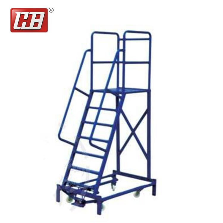 2018 Warehouse Steel Portable Stairs Safety Rolling Mobile Platform Ladder    Buy Platform Ladder,Mobile Ladder,Portable Stairs Product On Alibaba.com