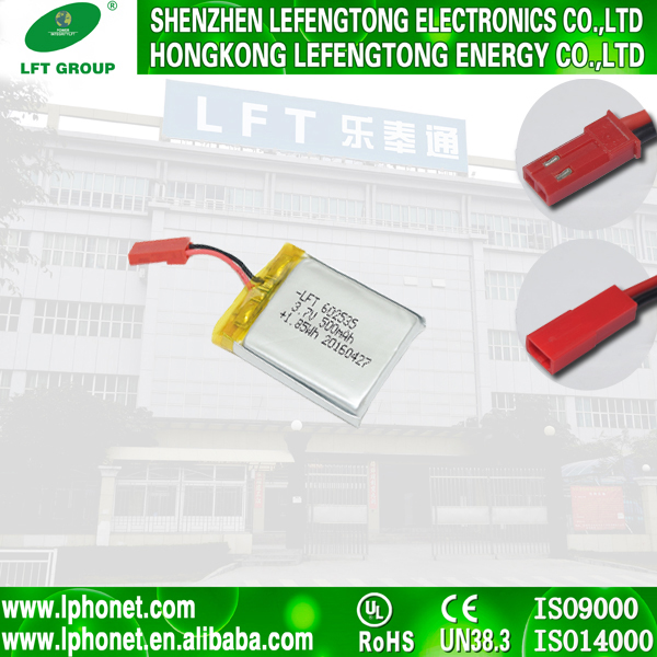 602035 rechargeable li-ion 3.7v 500mah 1.85wh lipo battery for GPS