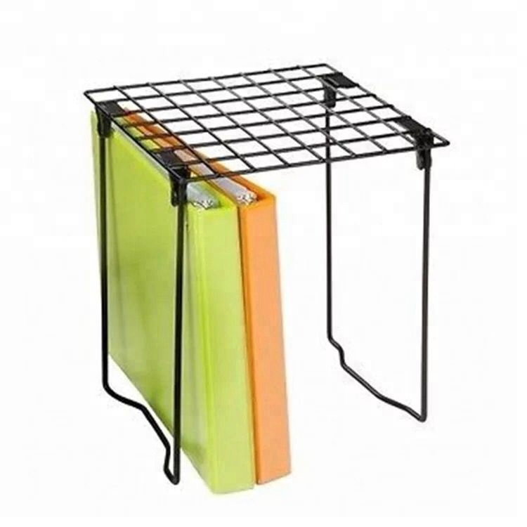 free sample 550-71 2018 newest foldable black desktop wire locker <strong>shelf</strong>