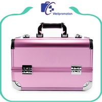 Custom pink abs makeup cosmetic case