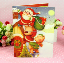 2014 3d happy new year music greeting card