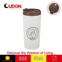 double wall stainless steel spill proof coffee cup