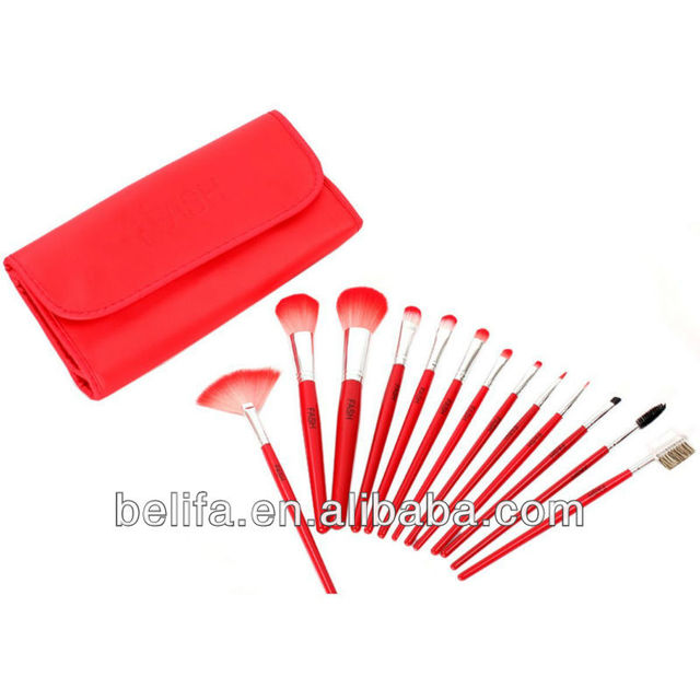 13pcs pro makeup brush set,kit, cosmetics makeup brush set for face powder,blush ,eydshadow ,eyeliner ,eyelash,nail,lip
