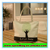 convenient canvas beach bag fingerprint tree printed bag cheap shopping bag