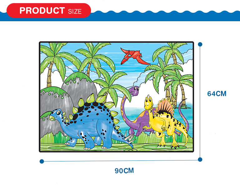 12 kinds water color pen dinosaur painting wholesale custom jigsaw puzzles for sale