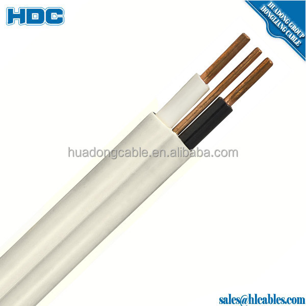 huadong Cable 1.5mm twin and earth cable BVVB flat pvc sheath electric wire
