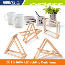rechargeable led table lamp 2016 new design folding hot sale led desk lamp