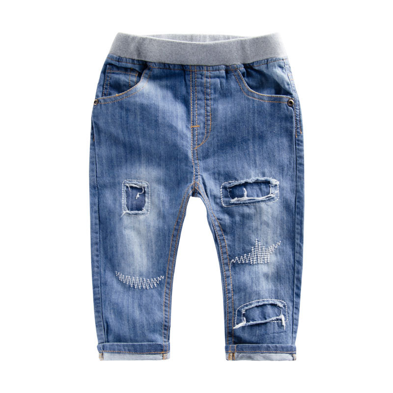 2015 ripped jeans for kids summer brand 2 3 4 5 6 7 Years Old Baby Jeans for kids Boys baby pants children jeans kd 4 5 6 7 8