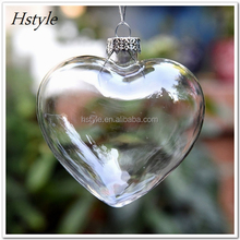 Heart Shape Glass Ball Ornaments for Garden Outdoor Decoration SD097