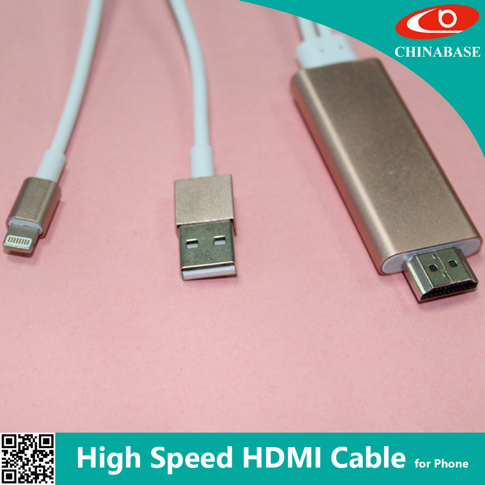Real time Sync hdmi supported phones hdmi cable for android mhl adapter
