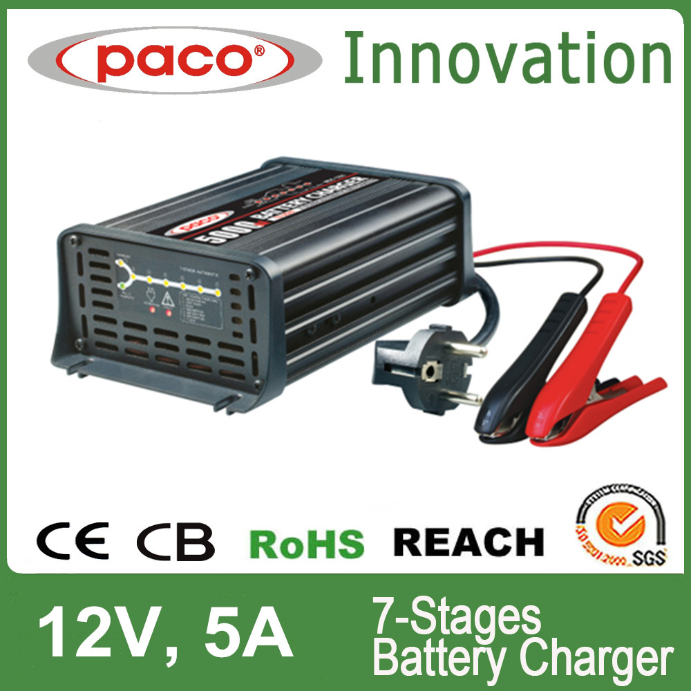 Desulphation LED Charge Status Display Battery Charger