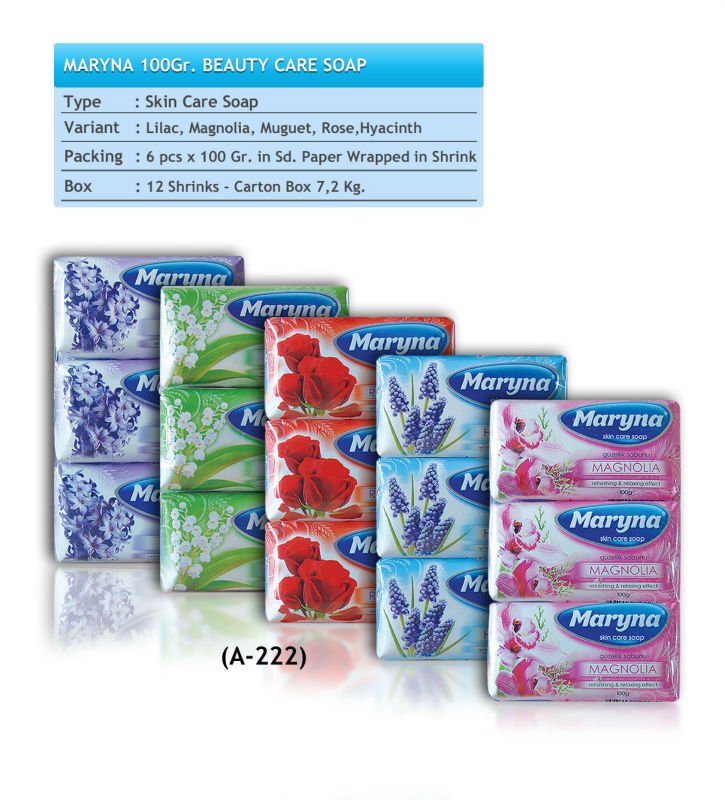 MARYNA BEAUTY 100gr PAPER WRAPPED CARE SOAP