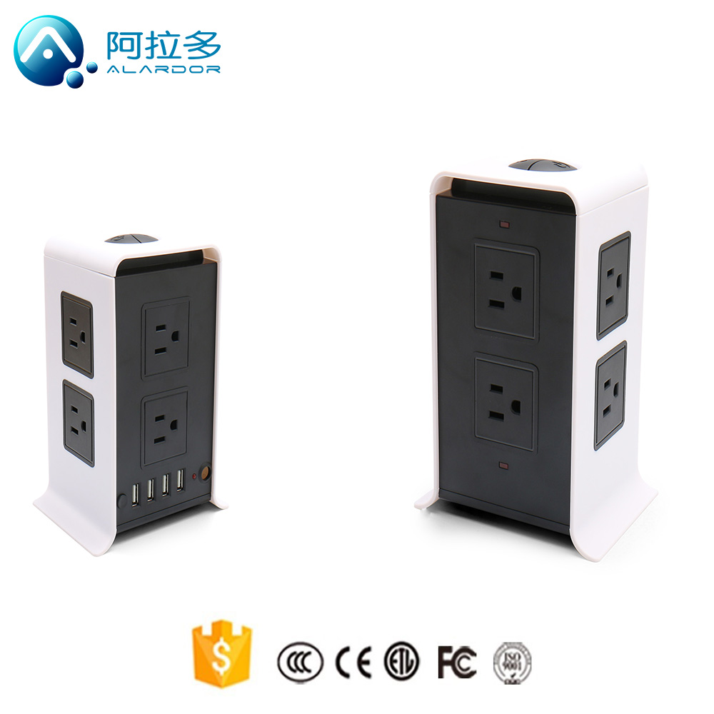8 gangs sockets 4 USB ports electrical socket wall mounted usb 220v power outlet
