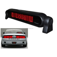 Red Tube Chip Color Car Notice Sign 3M Cigarette Lighter Taxi/Car Mini Led Display