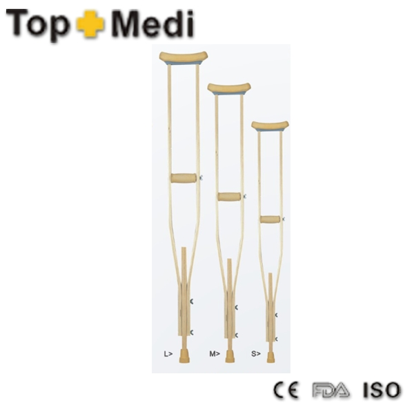 FDA CE TWA935(L/M/S) Hot Sale Height Adjustable Wooden Underarm Crutches Axillary Crutches