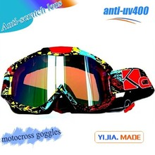 Factory made water transfer designed tpu frame and crossing goggles anti-uv400 motorcycle and motocross goggles