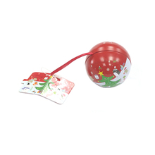 2017 Hot Sale High Quality Round Christmas Tin Box