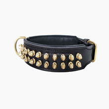 Soft Padded Genuine Cow Leather spiked large dog collar