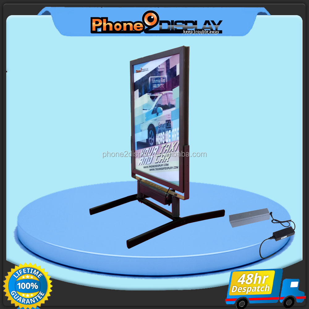 Outdoor lockable CE Li-lon Battery LED pavement sign