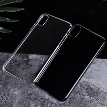 New coming plain white case for iPhone X mobile phone;light ultra-thin clear PC cover for iPhone X blank sublimation case