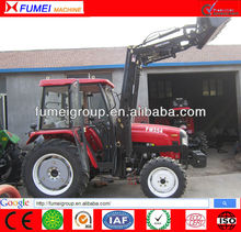 High quality 55hp tractor with front end loader and backhoe