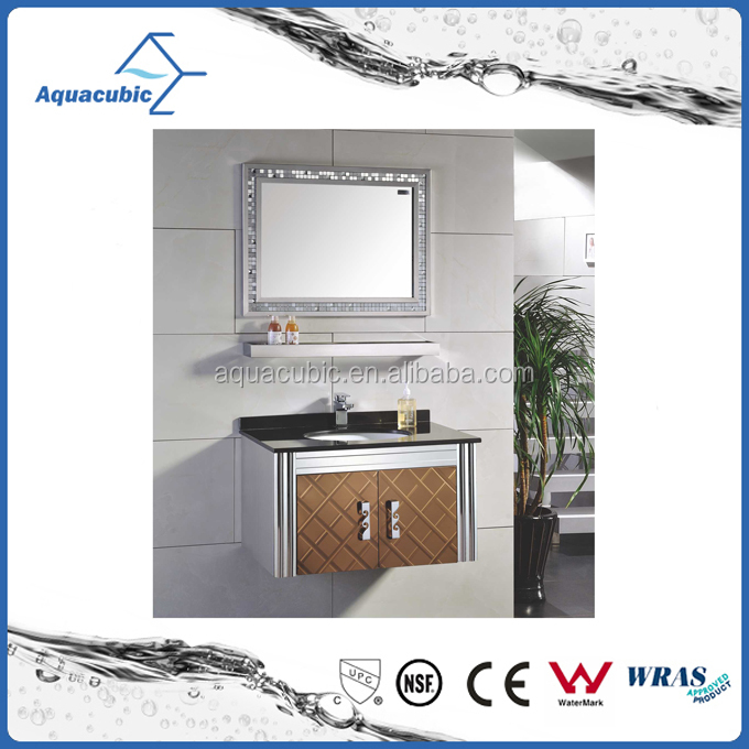 Modern Design Home Furniture Luxury Stainless Steel Bathroom Furniture