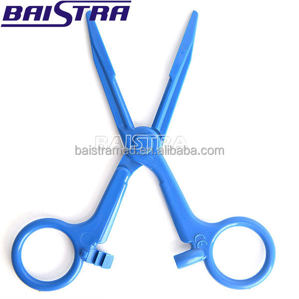 Medical Surgical instruments blue color Plastic Haemostatic Forceps