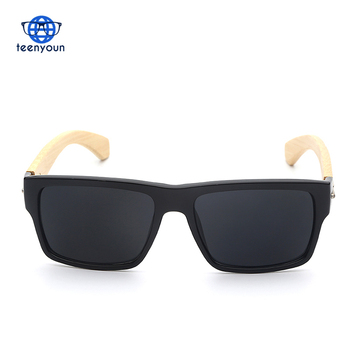 5119 Square Shades Women Brand Dessigner Vintage Men Black Glasses Natural Real Gafas De Sol Fashion Wood Bamboo sunglasses