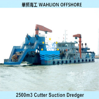2500m3 Cutter Suction Dredger for Sale