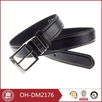 2015 chastity black leather belt for man