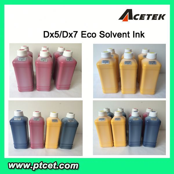 Acetek Brand dx5 eco-solvent ink for inkjet plotter