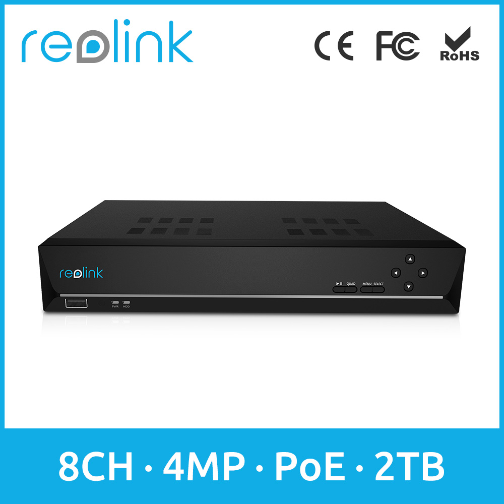 Reolink Wholesale Camera NVR PoE 8 Channel Network Video Recorder RLN8-410