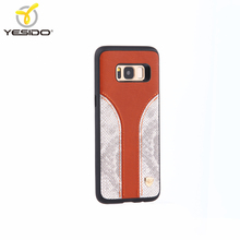 Best quality 3in1leather unique cell phone cases for samsung galaxy s8 hybrid case cover