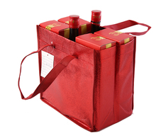 Supplier Direct Printing Custom Tote Bottle Wine Non Woven Bags