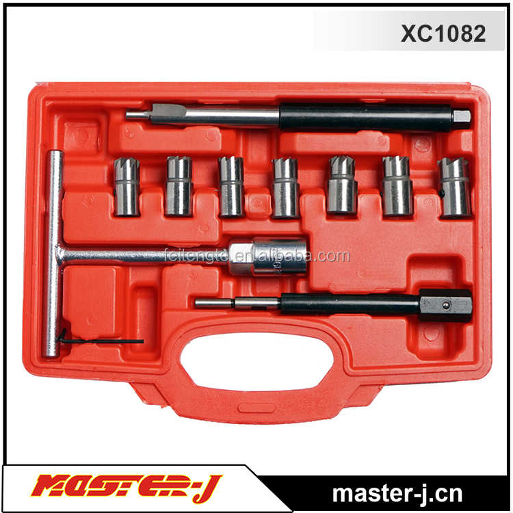 10PC Diesel Injector Seat Cutter set bosch injector pump tools