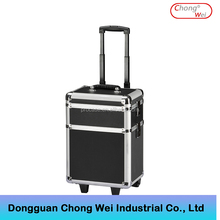 Wholesale travel luggage aluminum frame ABS trolley case