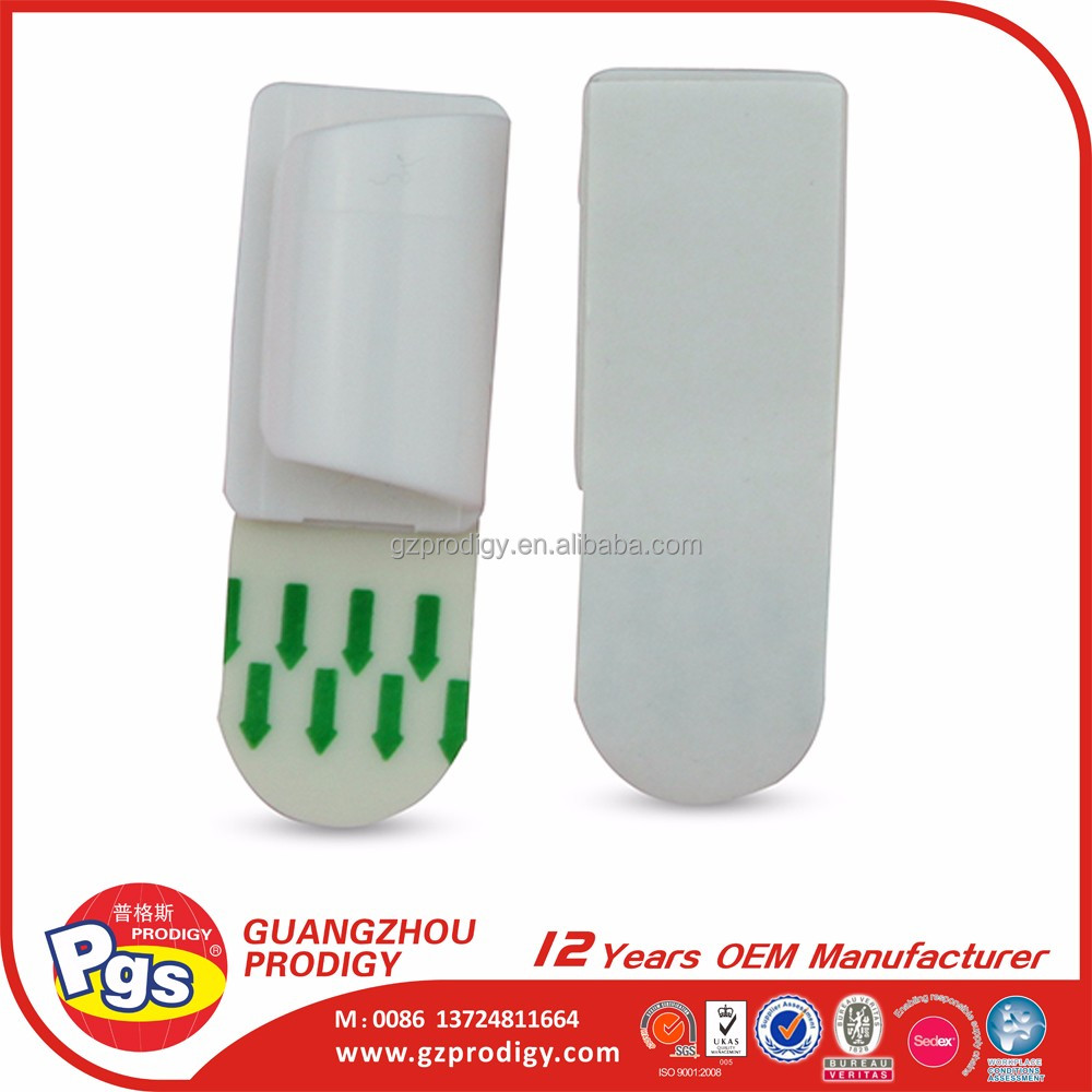 plastic white small wall hanging electrical wire mounting clip