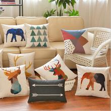 Company custom photo fancy cushion cover custom printing cushion covers