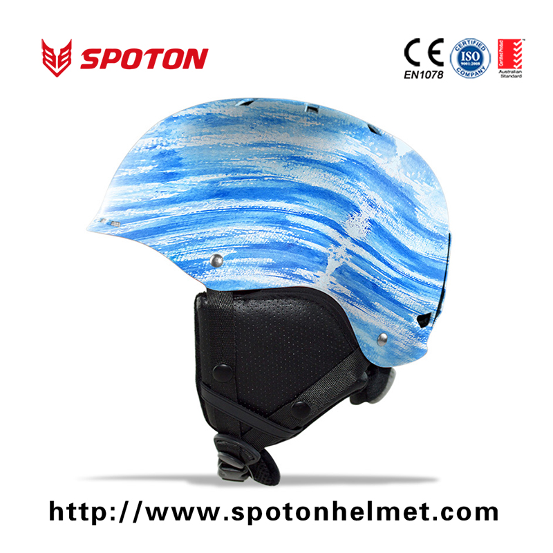 2016 latest popular ski helmet / snow helmet with thick ear pads and inner webs