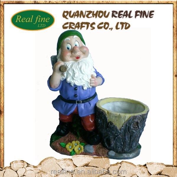 Decoration garden polyresin gnome figurines