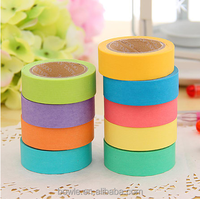 Chinese manufacturer supply sweet candy color masking tape for decoration,stationery