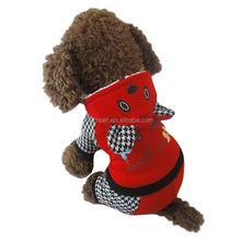 Cartoon bear four-foot thick warm red dog sweater