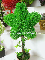 Yiwu new decorative artificial topiary leaf tree