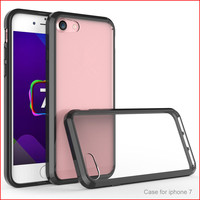 New TPU+PC Crystal Transparent Clear Phone Case Super Anti Scratch Acrylic Hard Back Cover For iPhone 7 CA1734