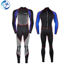 Men Long Sleeve Black Smooth Custom Thickness SCUBA Diving Swimming Wetsuit